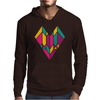 Stained Glass Heart Mens Hoodie