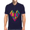 Stained Glass Heart Mens Polo