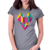 Stained Glass Heart Womens Fitted T-Shirt