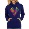 Stained Glass Heart Womens Hoodie