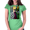 STANDING AT THE BAR  BAR SCENE Womens Fitted T-Shirt