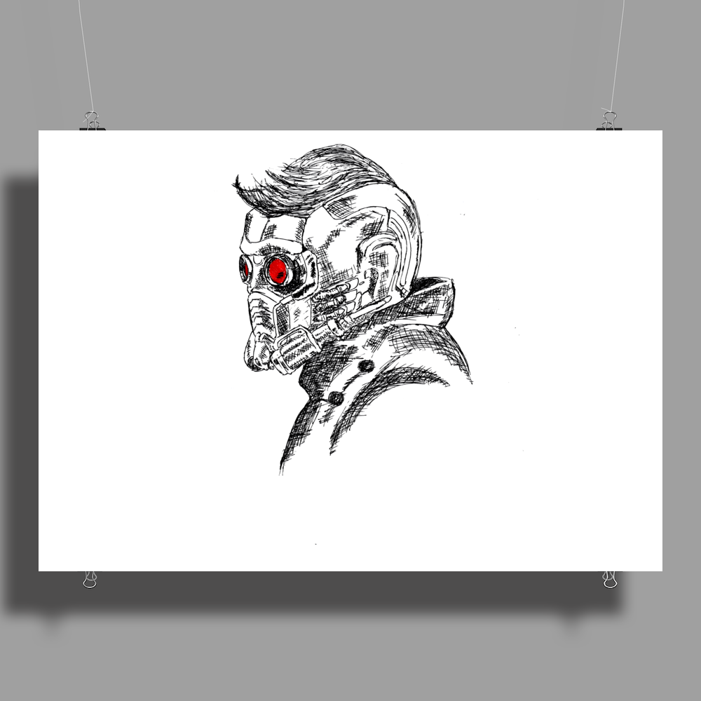 Star Lord art Poster Print (Landscape)