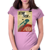 Star Trek  Vintage Movie Poster Womens Fitted T-Shirt