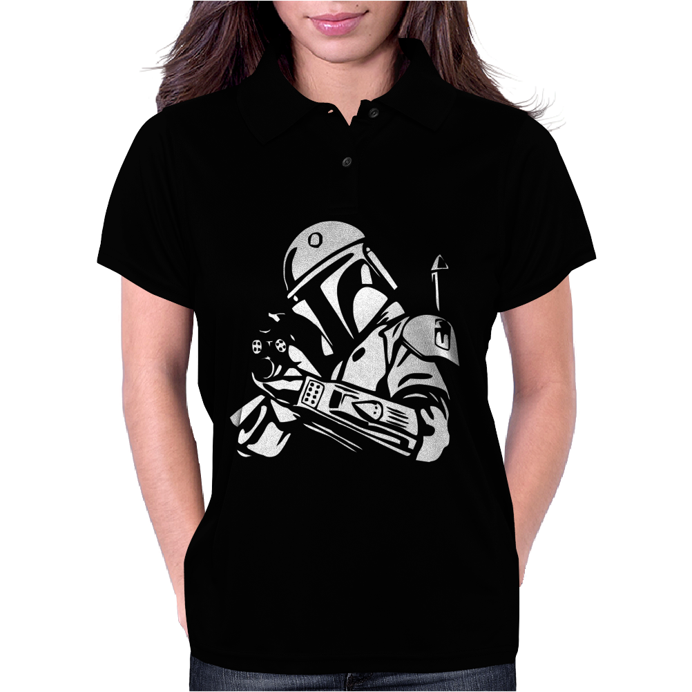 Star Wars Bobba Fett Inspired TEE Womens Polo