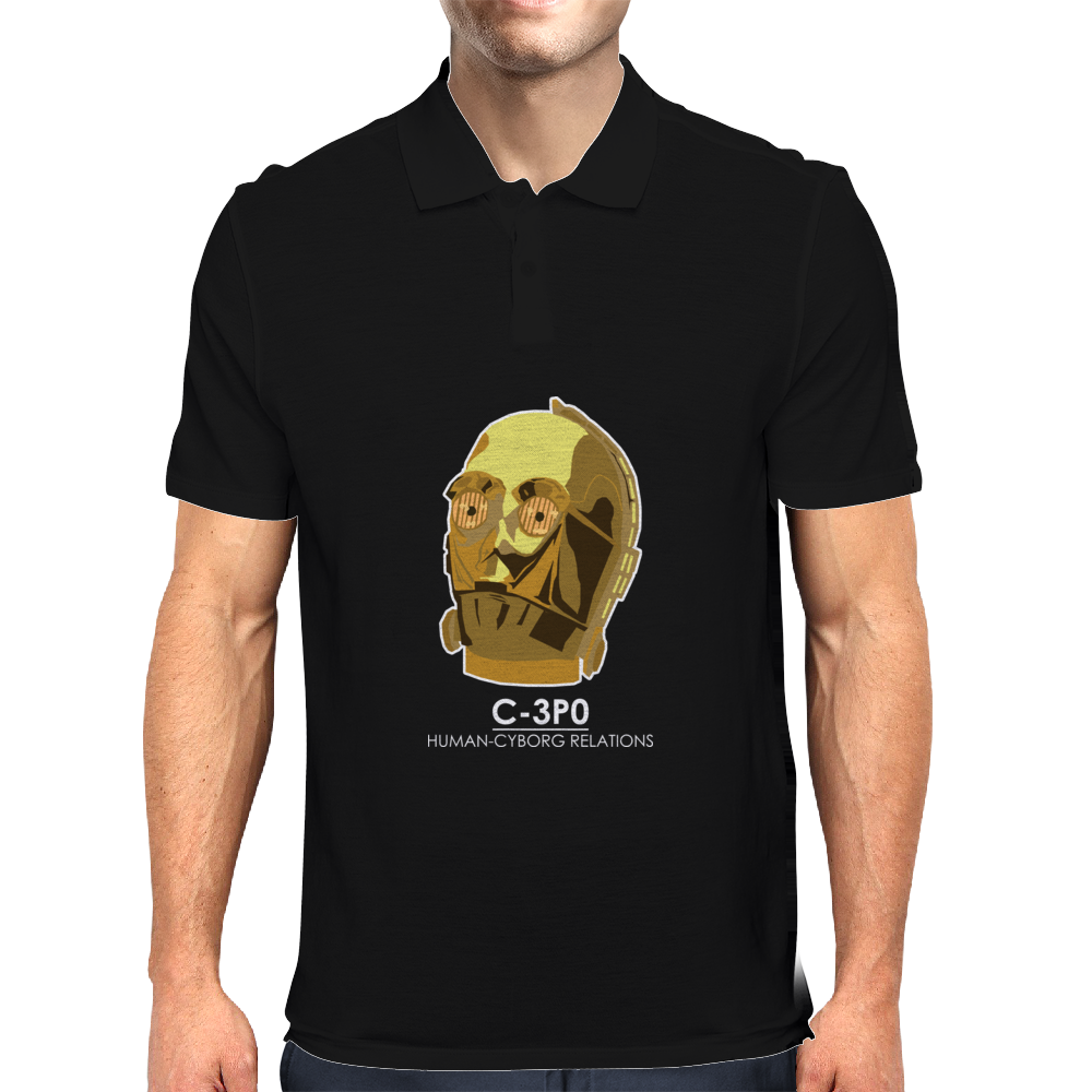 Star Wars C3P0 Mens Polo