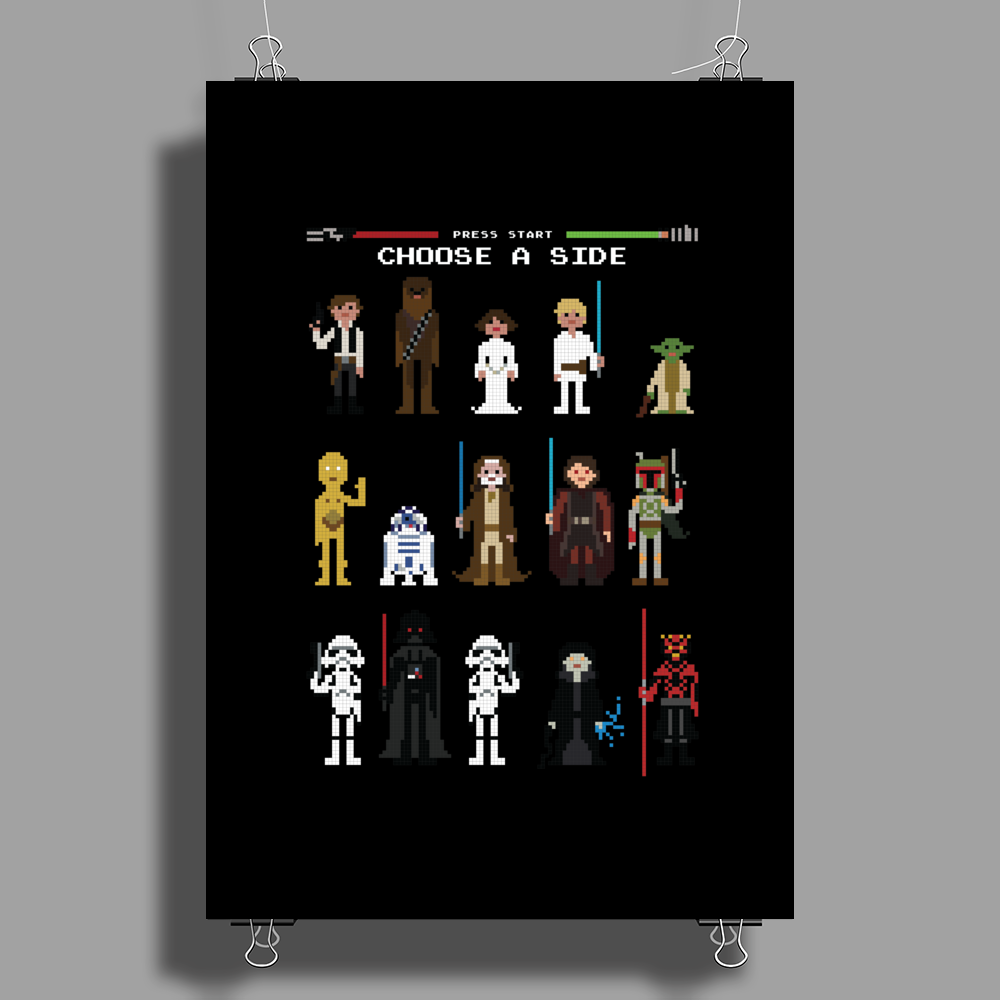 STAR WARS | CHOOSE A SIDE Poster Print (Portrait)
