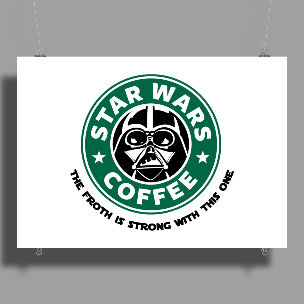 Star Wars Coffee Poster Print (Landscape)