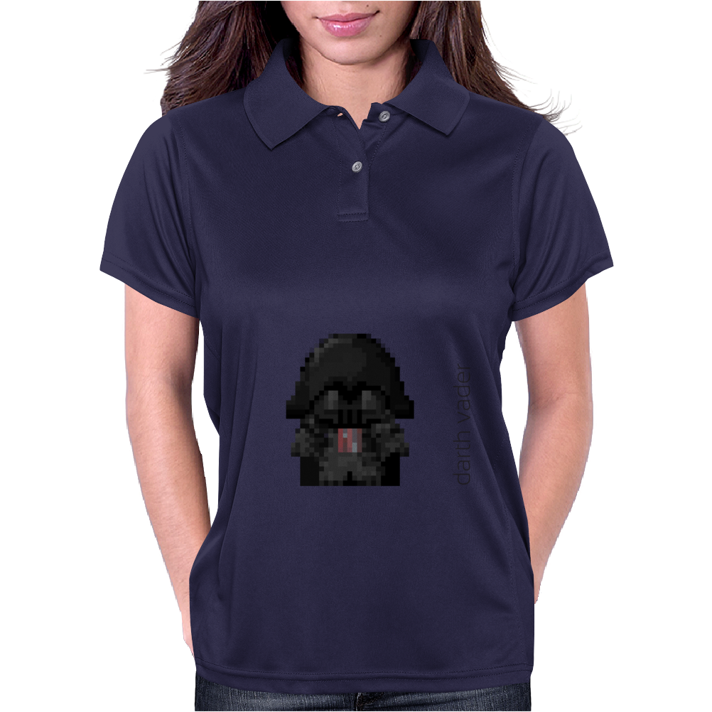 Star Wars Darth Vader pixel art by Birta Womens Polo