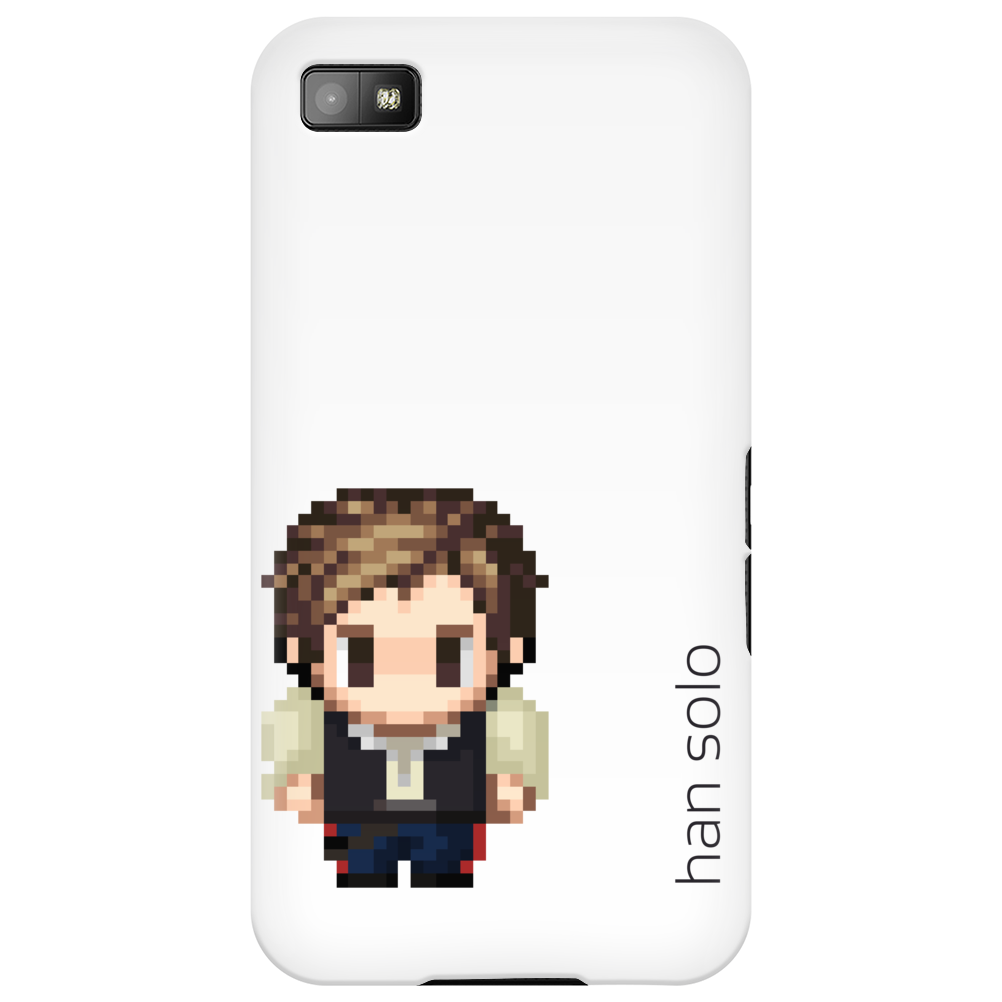 Star Wars Han Solo pixel art by Birta Phone Case