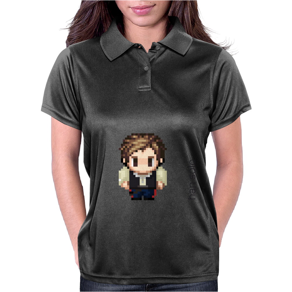 Star Wars Han Solo pixel art by Birta Womens Polo