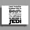 Star Wars Harry Potter Lord of the Rings Jedi Poster Print (Landscape)