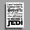 Star Wars Harry Potter Lord of the Rings Jedi Poster Print (Portrait)