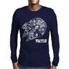 Star Wars Inspired Millenium Falcon Mens Long Sleeve T-Shirt