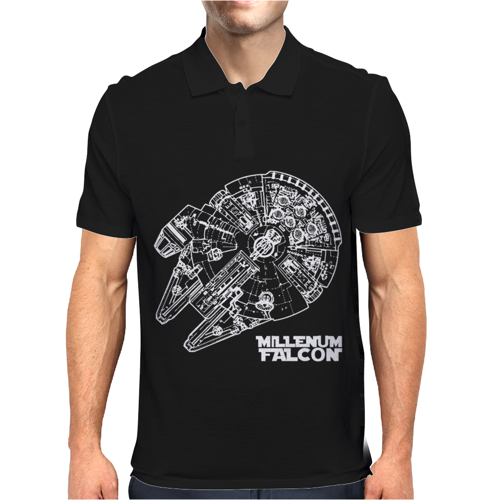 Star Wars Inspired Millenium Falcon Mens Polo