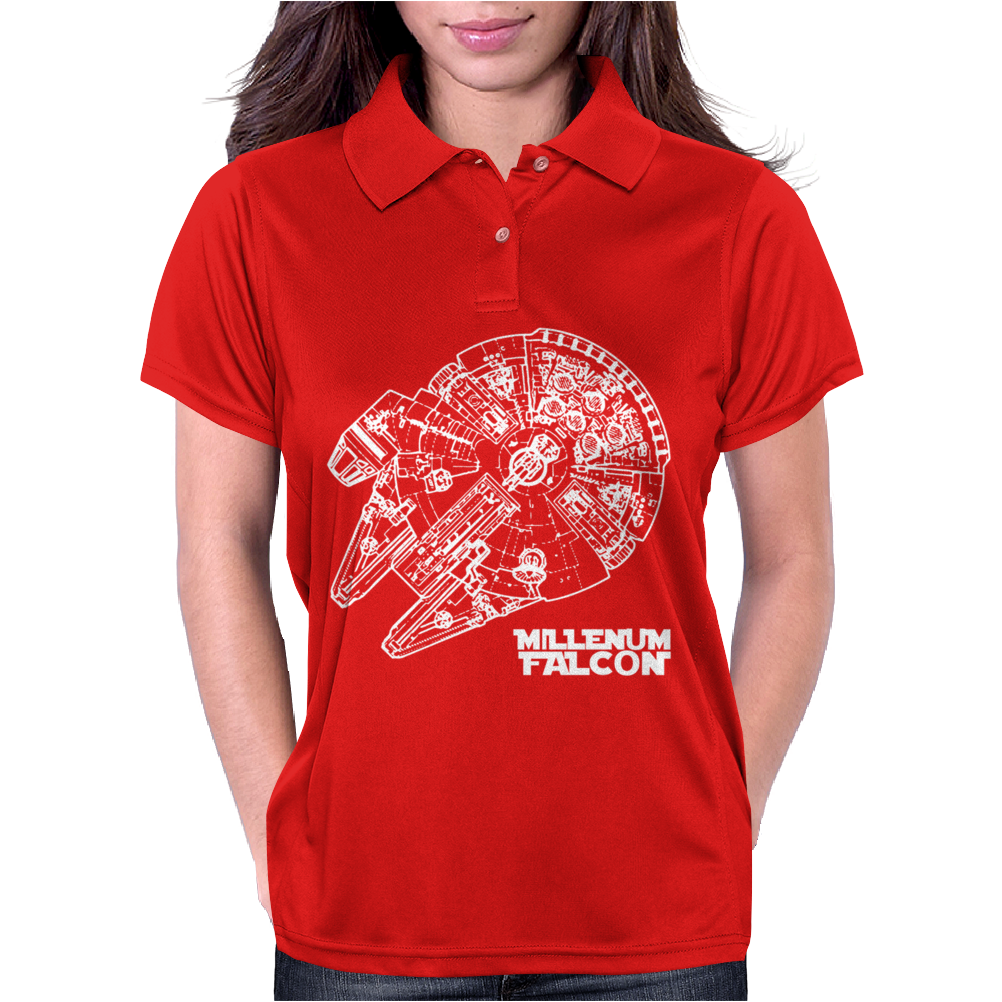 Star Wars Inspired Millenium Falcon Womens Polo