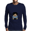 Star Wars Lando Calrissian pixel art by Birta Mens Long Sleeve T-Shirt