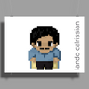 Star Wars Lando Calrissian pixel art by Birta Poster Print (Landscape)