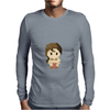 Star Wars Leia Organa pixel art by Birta Mens Long Sleeve T-Shirt