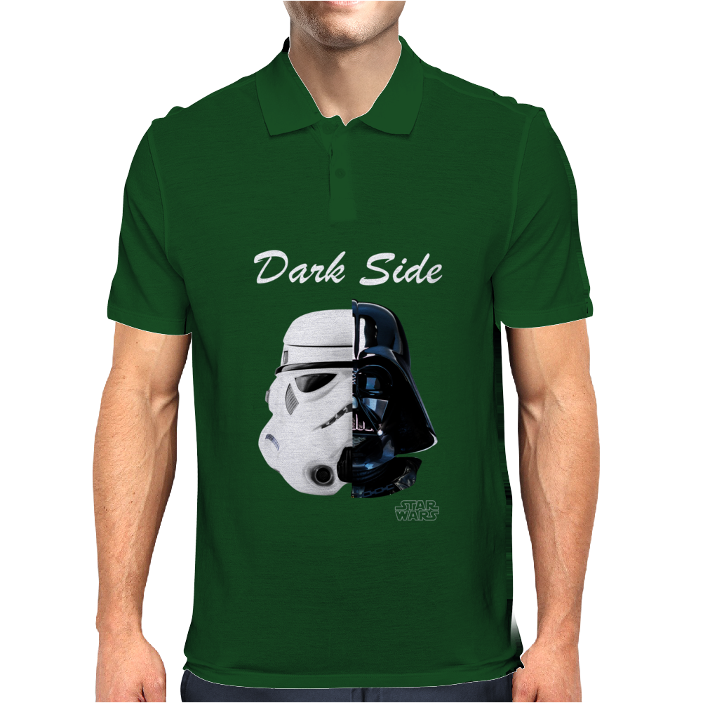 Star Wars Movie Darth Vader Stormtrooper Dark Side Mens Polo