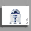 Star Wars R2-D2 pixel art by Birta Poster Print (Landscape)