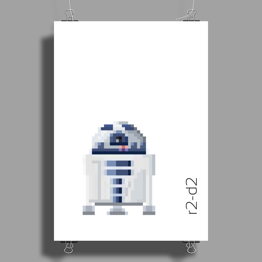 Star Wars R2-D2 pixel art by Birta Poster Print (Portrait)