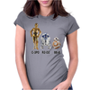 star wars robot Womens Fitted T-Shirt