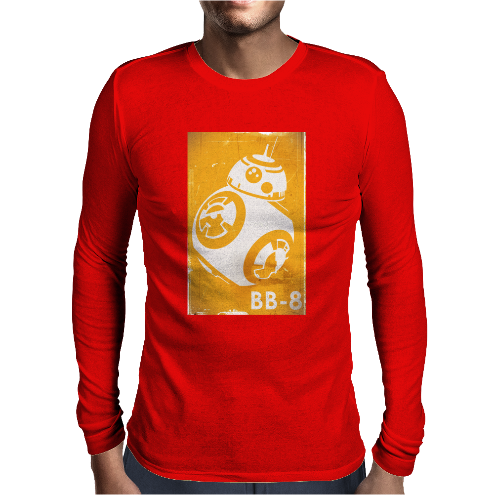 Star Wars The Force Awakens BB-8 Mens Long Sleeve T-Shirt