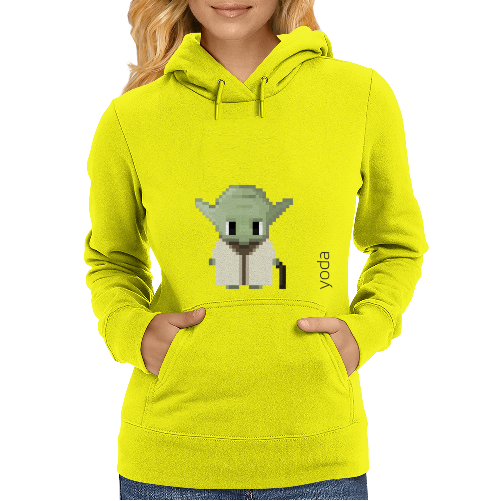 Star Wars Yoda pixel art by Birta Womens Hoodie
