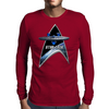 StarTrek Command Silver Signia Enterprise 1701 Mens Long Sleeve T-Shirt