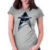StarTrek Command Silver Signia Enterprise 1701 Womens Fitted T-Shirt