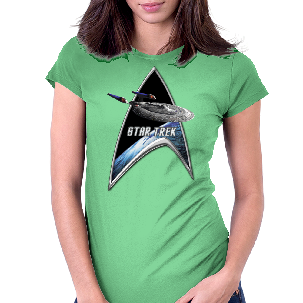 StarTrek Command Silver Signia Enterprise Sovereign E Womens Fitted T-Shirt