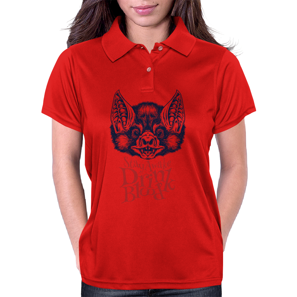 Stay Awake and Drink Blood Womens Polo