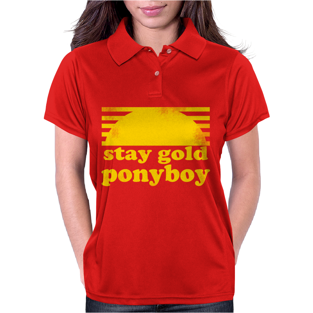 Stay Gold Ponyboy The Outsiders Movie Book Womens Polo