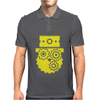 Steampunk Cog Face Mens Polo