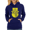 Steampunk Cog Face Womens Hoodie