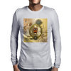 Steampunk, cute owl Mens Long Sleeve T-Shirt