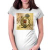 Steampunk, cute owl Womens Fitted T-Shirt