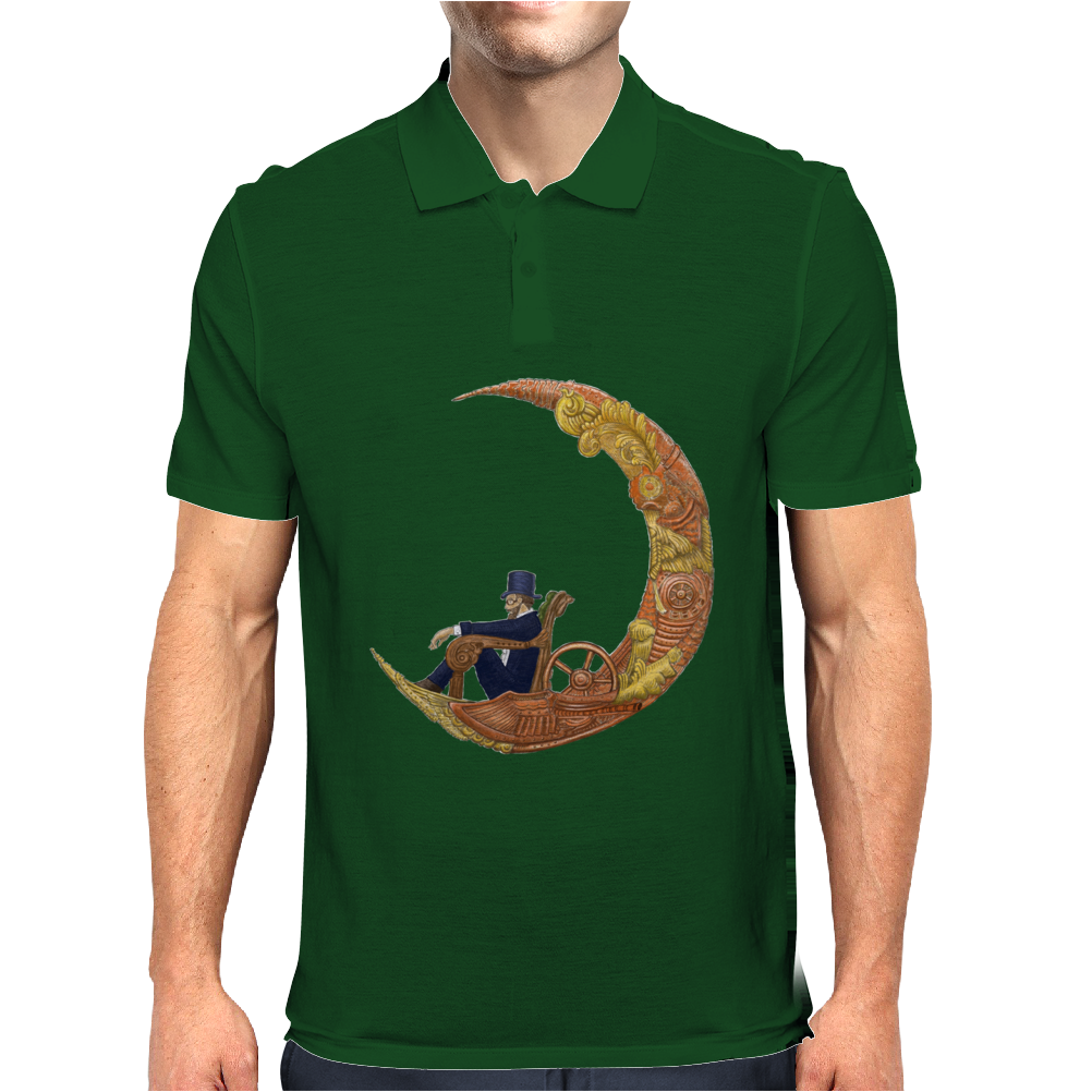 Steampunk Flying Machine  ts Mens Polo