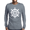 Steering Wheel Sail Boat Funny Mens Long Sleeve T-Shirt