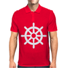 Steering Wheel Sail Boat Funny Mens Polo