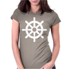 Steering Wheel Sail Boat Funny Womens Fitted T-Shirt
