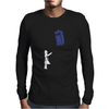 Stencil Doctor Who TARDIS Mens Long Sleeve T-Shirt