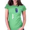 Stencil Doctor Who TARDIS Womens Fitted T-Shirt