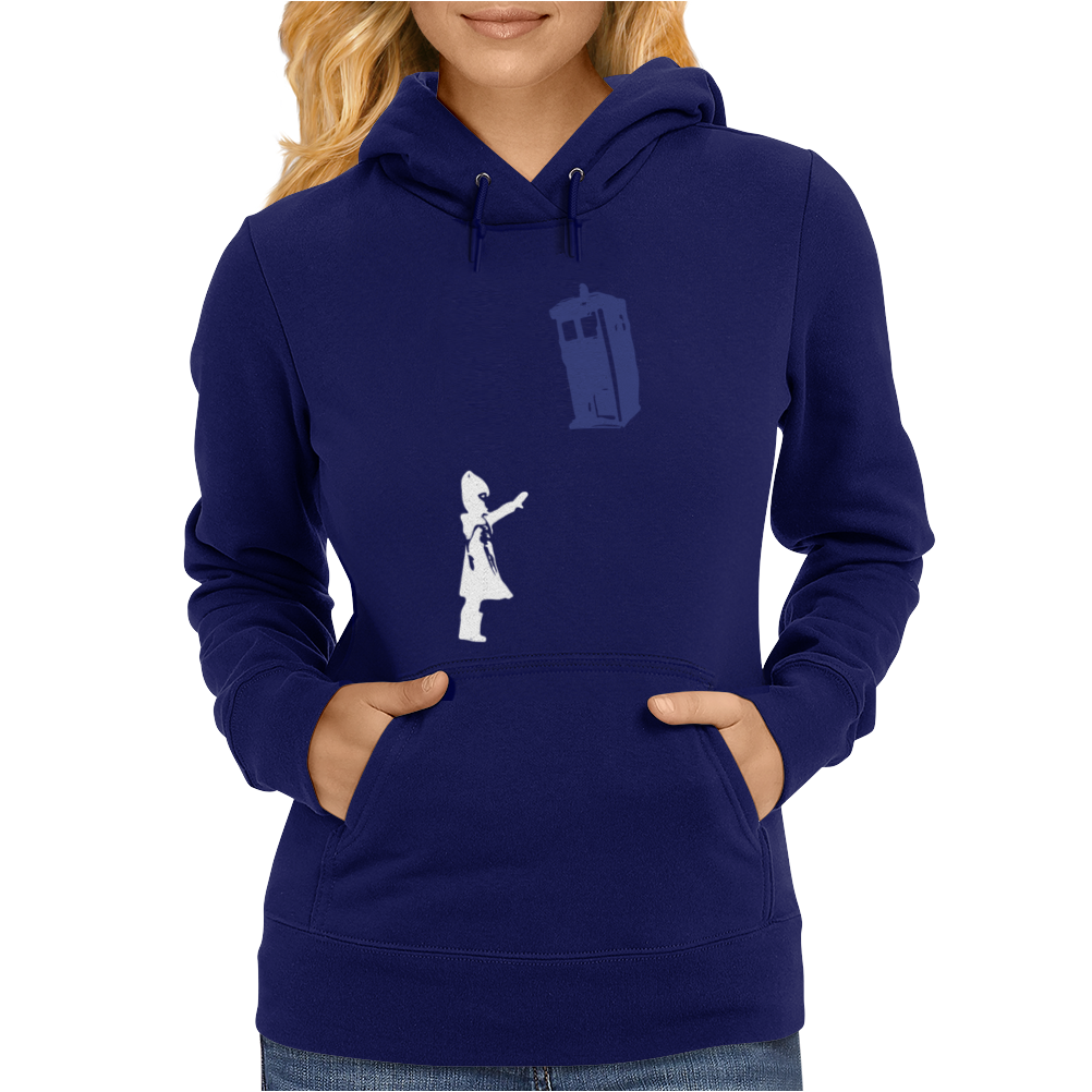 Stencil Doctor Who TARDIS Womens Hoodie