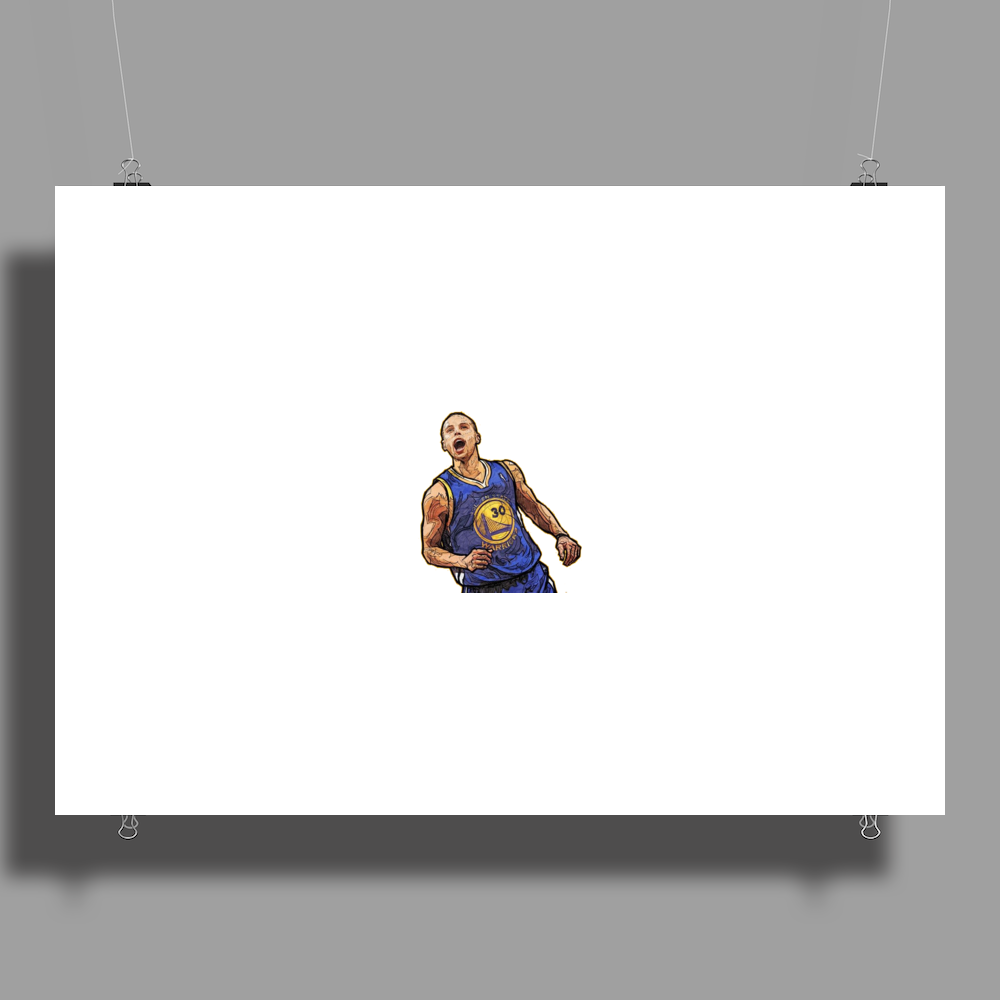 stephan curry Poster Print (Landscape)