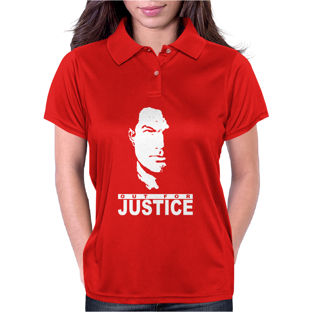 Steven Seagal Out For Justice Retro Womens Polo