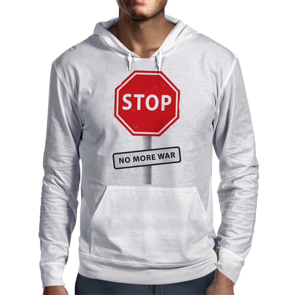 STOP No more war Mens Hoodie