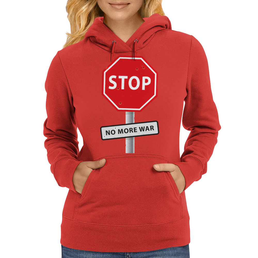 STOP No more war Womens Hoodie