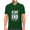 Stop Snow-Pression End Winter Funny Mens Polo