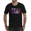 Stop Wars Galaxy Space Stellar Mars Aurora Universe Mens T-Shirt